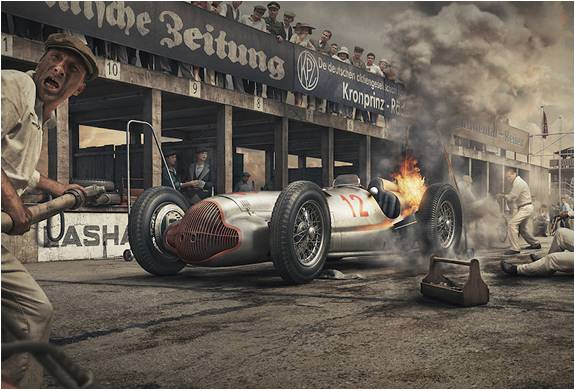ESTAMPAS DE CARROS ANTIGOS - THE SILVER ARROWS PROJECT - Imagem - 4